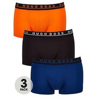 BOSS Hugo Boss 3pk Fashion Trunk, Orange/Black/Blue, Size 2Xl, Men