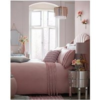 Product photograph showing Michelle Keegan Home Pink Fringe Duvet Cover Set