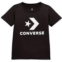 Converse Boys Stacked Wordmark Graphic Tee, Black, Size 10-12 Years