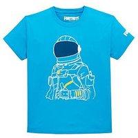 Fortnite Fortnite Boys Moonwalker T-Shirt - Blue, Blue, Size Age: L