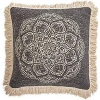 Product photograph showing Gallery Barranco Medallion Fringed Cushion