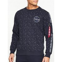 Alpha Industries Nasa Tape Sweatshirt - Navy