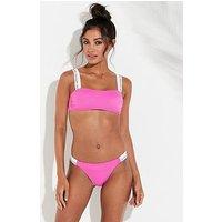 Calvin Klein Ck Logo Bikini Brief, Pink, Size Xs, Women