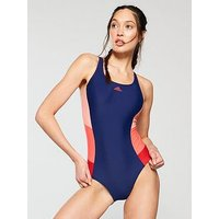 adidas Fit Insert Swimsuit - Navy , Navy, Size 32, Women