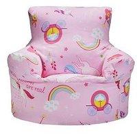 Product photograph showing Unicorn Design Bean Chair