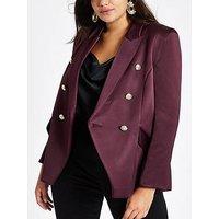 RI Plus Satin Blazer - Purple, Purple, Size 28, Women
