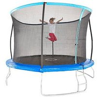 Sportspower 10Ft Trampoline With Easi-Store Folding Enclosure &Amp; Flip Pad