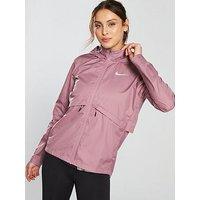 Nike Running Essential Jacket - Plum , Plum, Size Xl, Women
