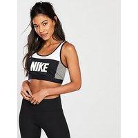 Nike Training Sport Distort Classic Bra - Black/Grey/White , Multi, Size S, Women
