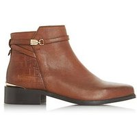 Dune London Wide Fit Peppey Strap Detail Ankle Boot - Tan, Tan, Size 6, Women