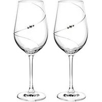 Product photograph showing Portmeirion Auris Red Wine Glasses With Swarovski Crystals -set Of 2