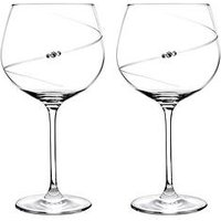 Product photograph showing Portmeirion Auris Gin Glasses With Swarovski Crystals - Set Of 2