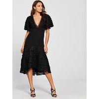 Keepsake Mirrors Midi Dress, Black, Size S, Women