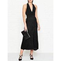 Bec & Bridge Electric Boogie Lurex Plunge Dress - Black