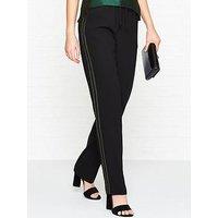 Bec & Bridge Loco Motion Lurex Stripe Trousers - Black