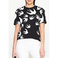 Mcq Alexander Mcqueen Classic Swallow Logo T-Shirt