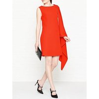 Mcq Alexander Mcqueen Cascade One Shoulder Dress - Orange
