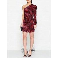 Bec & Bridge She'S A Maniac Cheetah Print Mini Dress - Red