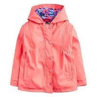 Joules Toddler Girls Rainbow Rubber Coat, Pink, Size 4 Years, Women