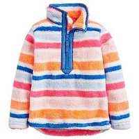 Joules Toddler Girls Merridie Stripe Half Zip Fleece, Pink, Size Age: 6 Years, Women