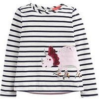 Joules Toddler Girls Ava Dino Stripe T Shirt, Navy, Size Age: 3 Years, Women