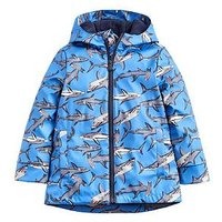 Joules Toddler Boys Skipper Rubber Coat, Blue, Size Age: 2 Years