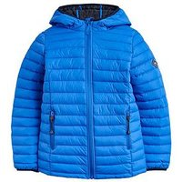 Joules Boys Cairn Quilted Packable Jacket, Blue, Size Age: 3 Years