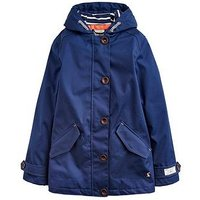 Joules Girls Coast Hooded Jacket, Navy, Size 9-10 Years, Women