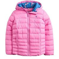 Joules Girls Kinnaird Quilted Packable Jacket, Light Pink, Size 4 Years, Women