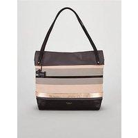 Radley Eaton Hall Large Tote Shoulder Zip Top Bag - Charcoal , Charcoal, Women