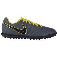 Nike Tiempox Legend Club Astro Turf Football Boots, Grey/Yellow, Size 10, Men