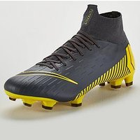 Nike Mercurial Superfly VI Pro Firm Ground Football Boots - Grey/Yellow, Grey/Yellow, Size 8, Men