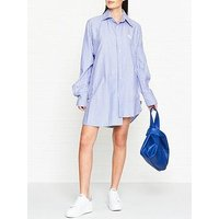 Vivienne Westwood Anglomania Chaos Stripe Shirt Dress - Blue