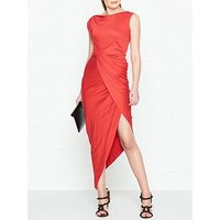 Vivienne Westwood Anglomania Vian Jersey Drape Dress - Red