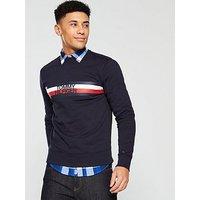 Tommy Hilfiger Logo Sweatshirt, Navy, Size Xl, Men