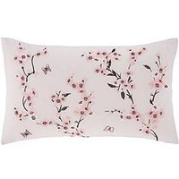 Product photograph showing Catherine Lansfield Embroidered Blossom Cushion