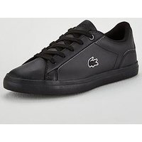 Lacoste Lerond Bl 2 Trainer, Black, Size 11 Younger