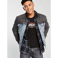 Levi's Levis Denim Trucker Jacket, Blue/Black, Size M, Men