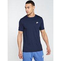 Nike Sportswear Club T-Shirt - Navy, Obsidian, Size S, Men