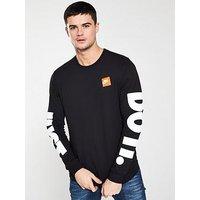 Nike Sportswear JDI Long Sleeve T-Shirt - Black, Black, Size Xl, Men