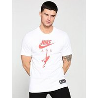 Nike Sportswear Air 2 T-Shirt, White, Size L, Men