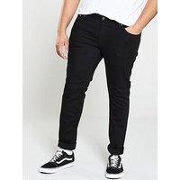 Jack & Jones Plus Skinny Fit Liam Jeans - Black, Black, Size 44, Length Long, Men