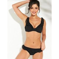 Freya Bohemia Underwired High Apex Bikini Top - Black, Black, Size 38Dd, Women