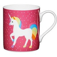 Kitchencraft Set Of 2 Fine Bone China Unicorn Mini Mugs, 250Ml