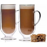 Product photograph showing Kitchencraft Set Of 2 Double Walled Latte Glasses