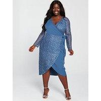 Little Mistress Curve Little Mistress Curve Crochet Wrap Midi Dress