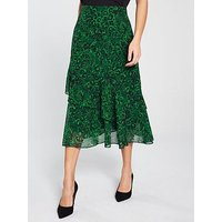 Whistles Jungle Cat Print Midi Skirt