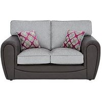 Moreno Faux Snakeskin And Fabric 2 Seater Standard Back Sofa