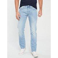 Replay Newbill Comfort Jeans - Light Blue, Light Blue, Size 38, Inside Leg Long, Men