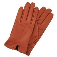 Accessorize Accessorize Basic Leather Gloves - Rust, Rust, Size S-M, Women
